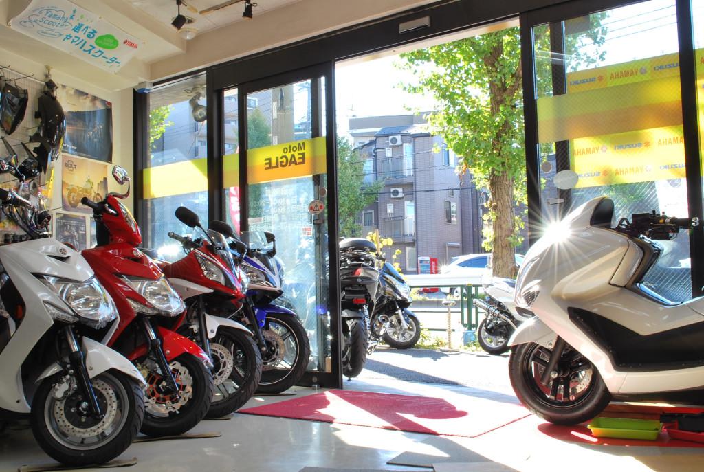シグナスX展示バイク