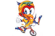チャッキー伊豆修善寺の鳥であるキジをモチーフに自転車とともに羽ばたくイメージをキャラター化した